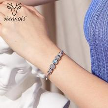 Viennois Rose Gold / Silver Color Bracelet&Bangles For Women Fashion Top Austrian Rhinestone Blue Crystal Jewelry 2019(China)