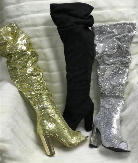 2019 Women Top Quality Luxury Ladies Elegant Gold Rhinestones In The Tube Womens Boots Shiny High Heels Bow Wedding Party Shoes2019 Women Top Quality Luxury Ladies Elegant Gold Rhinestones In The Tube Womens Boots Shiny High Heels Bow Wedding Party Shoes