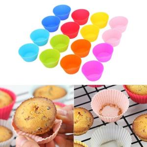Image 5 - 16 teile/los Muffin Cupcake Mould Bunte Runde Form Silikon Cupcake Mould Backformen Maker Form Tablett Backen Tasse Liner Formen
