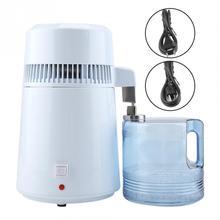 Uso do alojamento destilador de água pura 4l destilado máquina de destilação purificador de água de aço inoxidável filtro de água manual russo