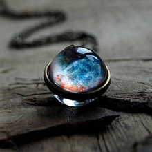 цена на Fashion Pendants Double-sided Glass Ball Pendant Time Gem Universe Star Necklace Jewelry Accessories Ladies Elegant Necklace New