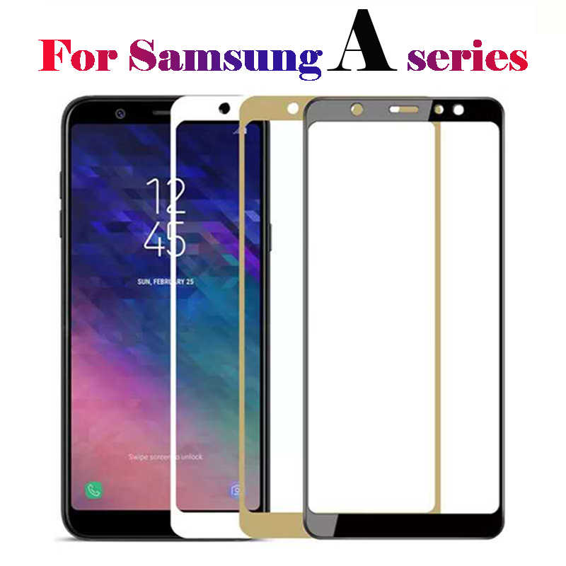 For Samsung Galaxy A6 Glass Screen Protector Protective Film Tempered Glas Sansung A 6 7 8 9 A9 2018 A8 Plus Tremp Sheet Cover