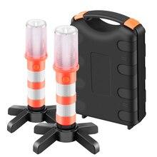 Магнитный Портативный светодиодный аварийный придорожные вспышек съемная подставка Маяк безопасности мерцающий светильник Предупреждение сигнал предупреждения SOS лампы 2 предмета