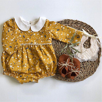 0-18M Newborn Kids Baby Girl Floral Clothing Cotton long Sleeve Bodysuit Elegant Cute Sunsuit Princess New born Outfits 2019 new christmas outfits babys outfits kids clothing santa clause suit long sleeve cute fashion toddle
