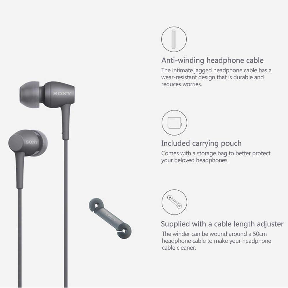 Słuchawki SONY IER-H500A 3.5mm przewodowe słuchawki douszne słuchawki stereofoniczne do inteligentnego zestaw słuchawkowy telefonu głośnomówiący z mikrofonem