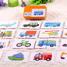 Cartoon Animal Montessori Toys for Children Baby Enlightenment Cognitive Early Learning Card Excite 0-3Y Puzzle Card Baby Toy children s wooden toys enlightenment early education learning card english spelling cognitive puzzle montessori teaching aids
