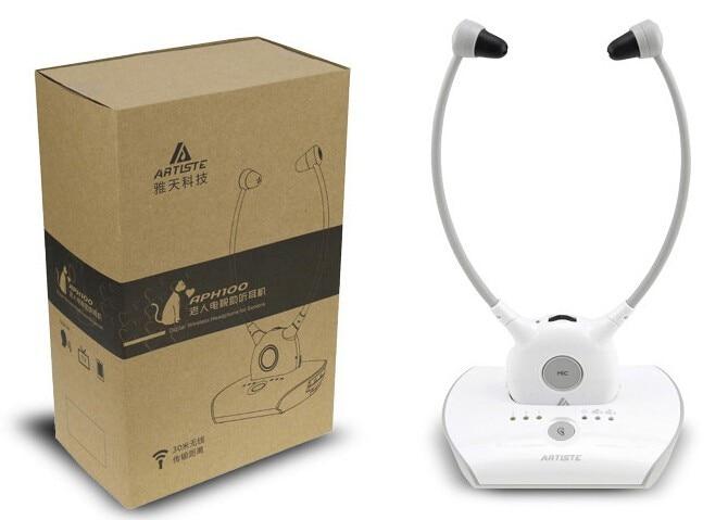Artiste APH100 aide auditive écouteur sans fil 2.4G HIFI pour regarder la télévision personnes âgées casque d'aide auditive
