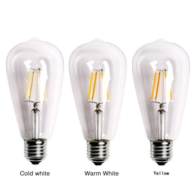 Light Bulb LED Edison Lamp Vintage Filament Bulb Bedroom Romantic 2W/4W/6W/8W E27 ST64 Retro Vogue Light Bulb