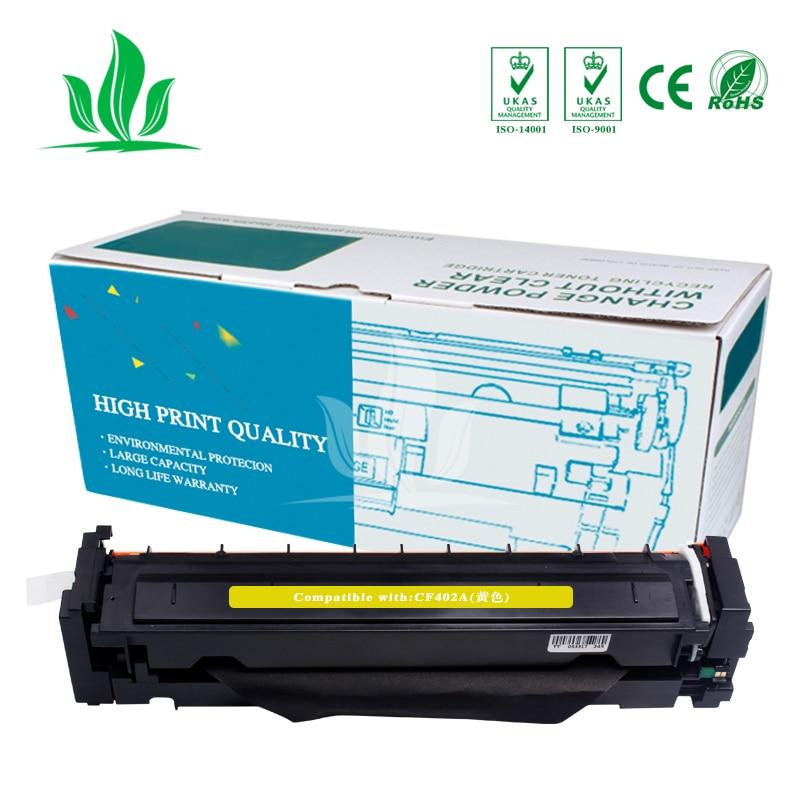 1Y CF400A CF401A 402 403A 201A Compatible Color Toner Cartridge For hp HP Color LaserJet Pro M252dn M252n MFP M277dw M277n M274n