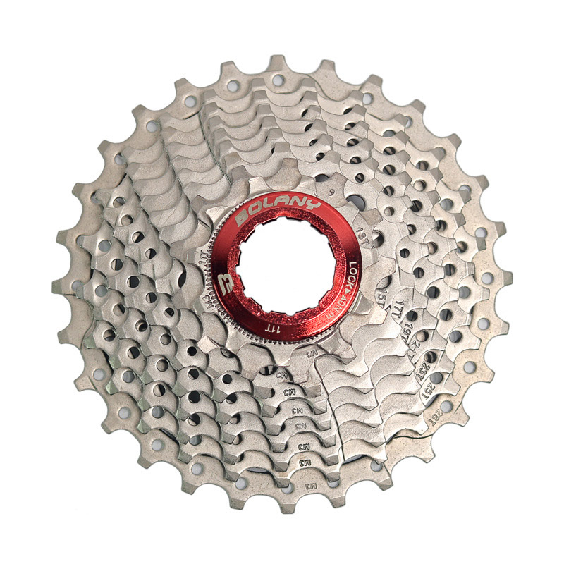 Bolany 9 Speed <font><b>Cassette</b></font> <font><b>11</b></font>-28T Wide Ratio Freewheel Mtb Bicycle <font><b>Cassette</b></font> Flywheel Sprocket Compatible With Simano image