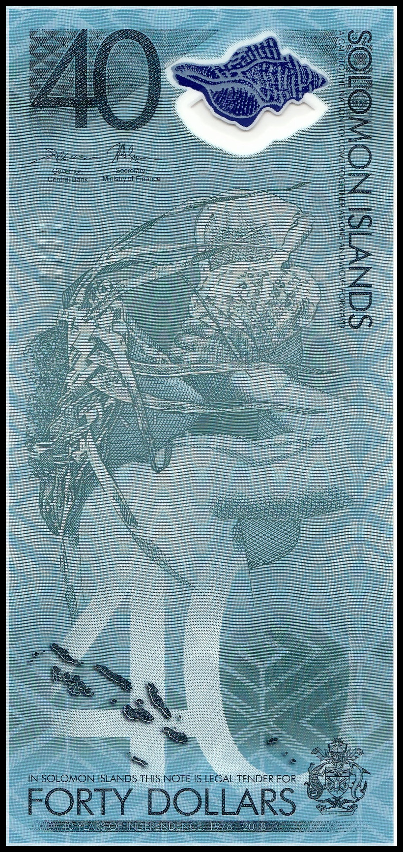 Pick New 2018 UNC SOLOMON ISLANDS 40 Dollars 2018 Polymer Commemorative