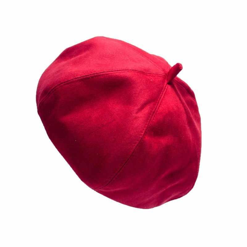 Новый стиль Модные женские классические шерстяные смешанные теплые французские пушистые Лидер продаж берет шапка Кепка 7 цветов