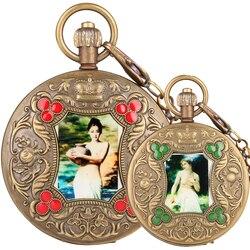 Tourbillon Taschenuhr für Männer Künstlerische Persönlichkeit Foto Tasche Uhren für Frauen Automatische-selbst-wicklung Taschenuhr Geschenk