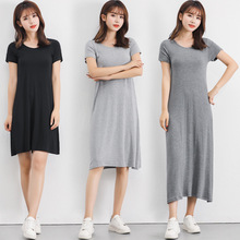 Dress summer modal comfortable and breathable bottoming dress short-sleeved large size loose camisole women