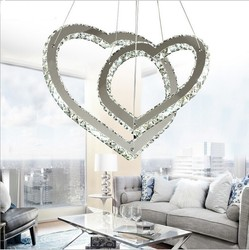 Kreatywny w kształcie serca żyrandole Lampy LED i latarnie żyrandol pokój kryształowy żyrandol Lustre oświetlenie na napięcie 90 260 v|Żyrandole|   -