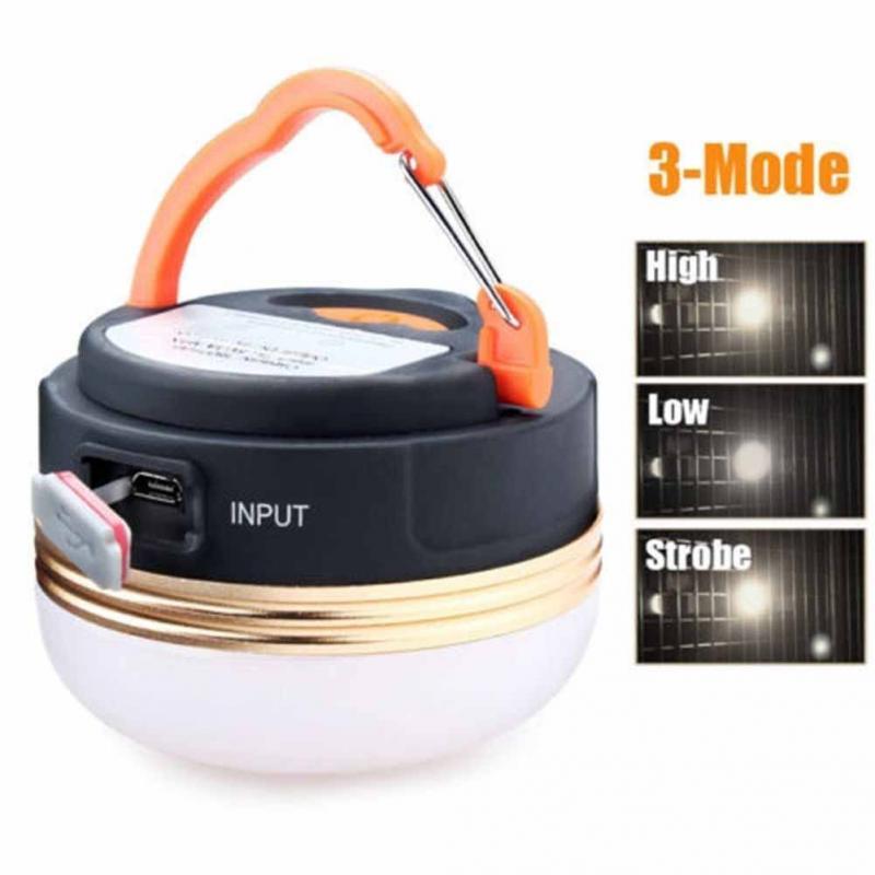 3 Mode USB charge Camping lumières 5LED tentes extérieures lumière lampe de poche de secours pour téléphone portable charge avec aimant #1025