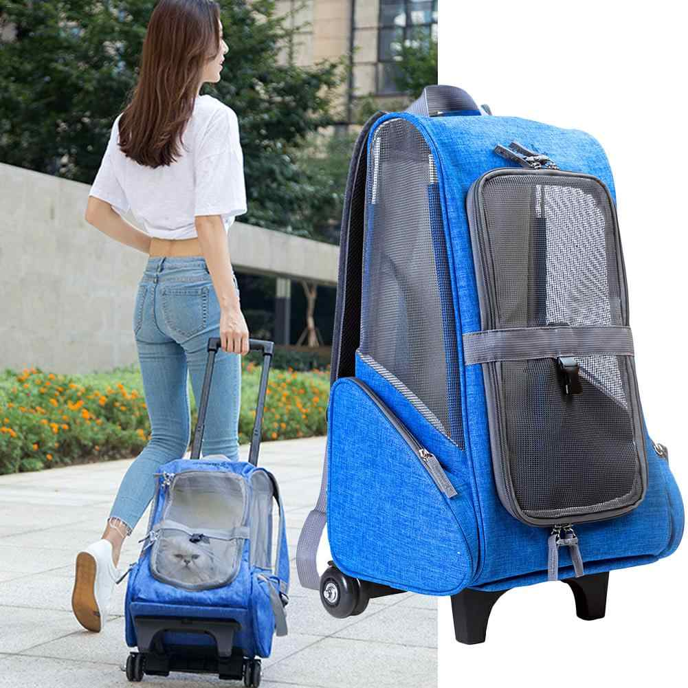 Multi-functional Pet Stroller Breathable Mesh Portable Pet Cart With Detachable Pulley For Outdoor With Air Shipping Standards