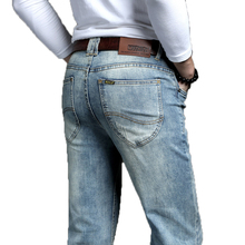 카우보이 빈티지 Bule 남자 청바지 새로운 도착 2020 패션 스트레치 클래식 데님 바지 남성 디자이너 스트레이트 맞는 바지 크기 38 40