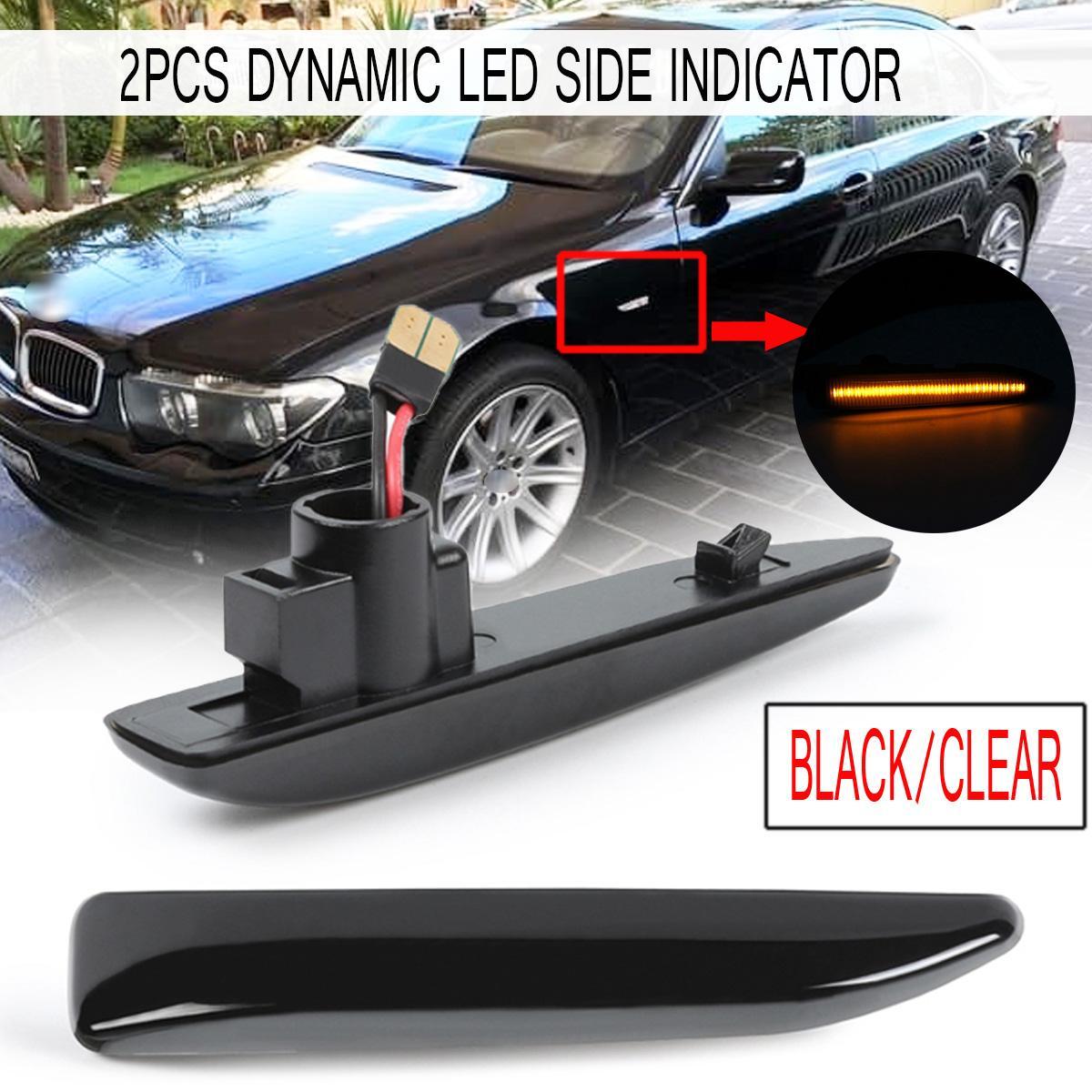 2x For Hyundai Tucson 4-LED Side Repeater Indicator Turn Signal Light Lamp Bulbs