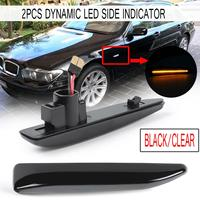 2x Car LED Side Light Dynamic Flowing Sequential Indicator Lamp Auto Side Marker Light Turn Signal Lamp for BMW E65 E66 E67