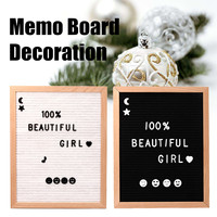 Felt Changeable Letters Message Board Sign Wood Home Restaurant Home Office Decor Board Changeable Letter Board