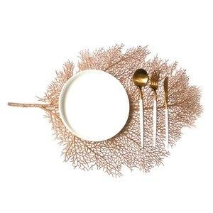 Podkładka do kuchni stół do jadalni symulacja roślin gałęzie koralowe pcv mata stołowa dekoracyjne podkładki stołowe podkładki Home Decor