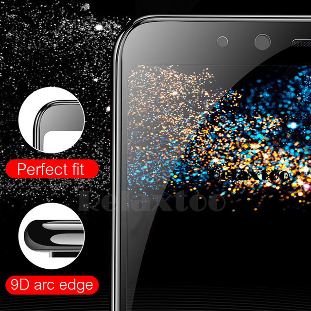 2-1pcs 9D Full Glue Tempered Glass For Samsung Galaxy A5 A7 2017 A9 A6 A8 Plus 2018 screen protector Protective film on a 5 6 7 4