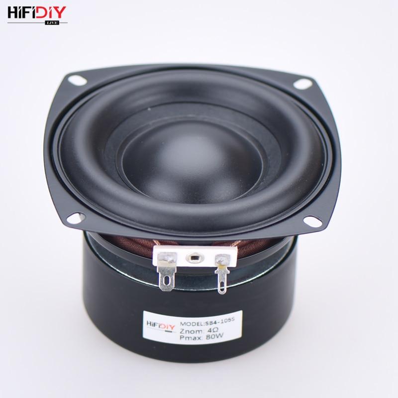 HI-FI DIY AUDIO 4 Inch 80W Woofer Speaker High Power Long Stroke BASS Home Theater For 2.1 Subwoofer Unit Loudspeakers SB4-105S
