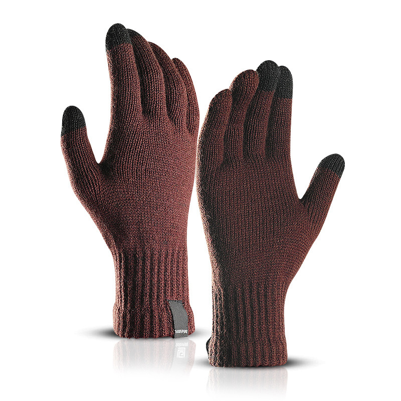 LESOV Woolen Touch Screen Gloves for Men with Highly Sensitive Conductive Fiber on Thumb and Index Finger Works with All Touch Screen Device 2