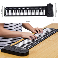 Besegad Portable Foldable 49 Key Electronic Keyboard Piano Musical Teaching Toy for Adult Kids Birthday Christmas Festival Gift