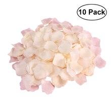 70 г поддельные искусственные лепестки роз Свадебные Цветочные украшения(Шампань