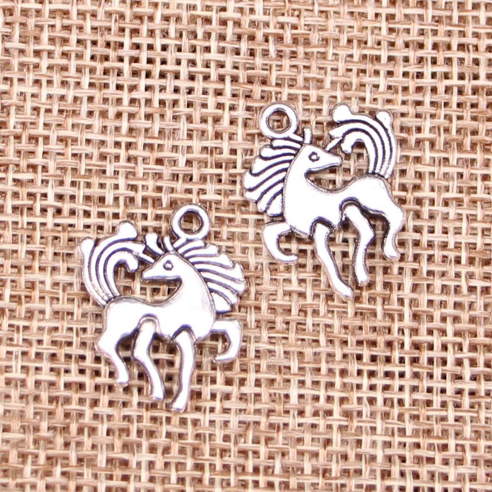 10pcs Charms Horse Unicorn 19x25mm Antique Making Pendant Fit,vintage Tibetan Silver,diy Bracelet Necklace Clear-Cut Texture Jewelry & Accessories Jewelry Sets & More