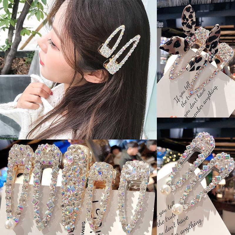 3100485fe5 Women Side clip Duckbill clip New style Super flash 1 piece Fashion Simple  Metal Korean version Hair clip