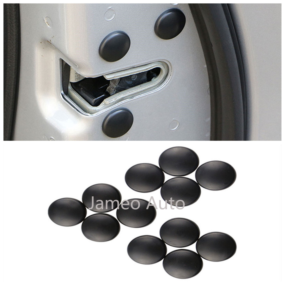 12pcs Auto Car Door Lock Screw Protector Cap Cover Trim Set Plastic Accessories