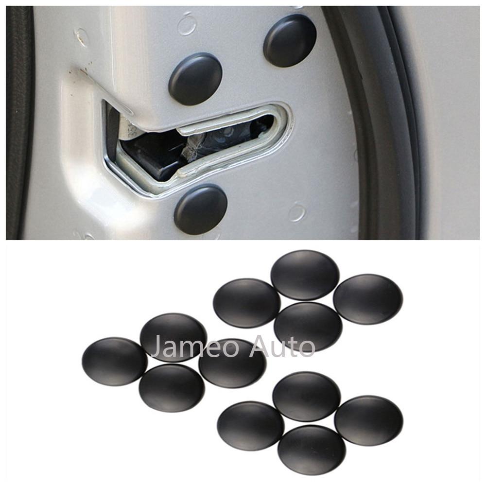 12pcs/Set Car Door Lock Screw Protector Cover Accessories For Mitsubishi Outlander ASX Lancer EX L200 Mirage Pajero Galant