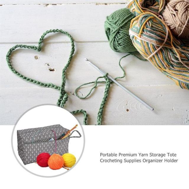 Crochet Hooks Thread Yarn Storage Bag Large Knitting Yarn Basket Diy