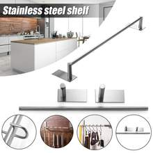 Shelf Stainless Steel Kitchen Rack Door No Trace Nail-free Paste Wall Towel Rack Knife Holder Seasoning Supplies Shelf Accessory(China)
