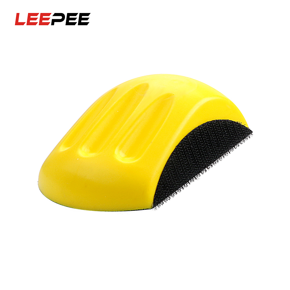 LEEPEE Car Polisher Hand Grinding Block Auto Care Mouse Shaped Backing Pad for Sanding Disc Automotive Refinish Polish Plate Polishing & Grinding Materials Set     - title=