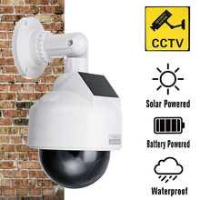Fake Camera Solar Power Outdoor Simulation Dummy Camera Waterproof Security CCTV Surveillance Bullet