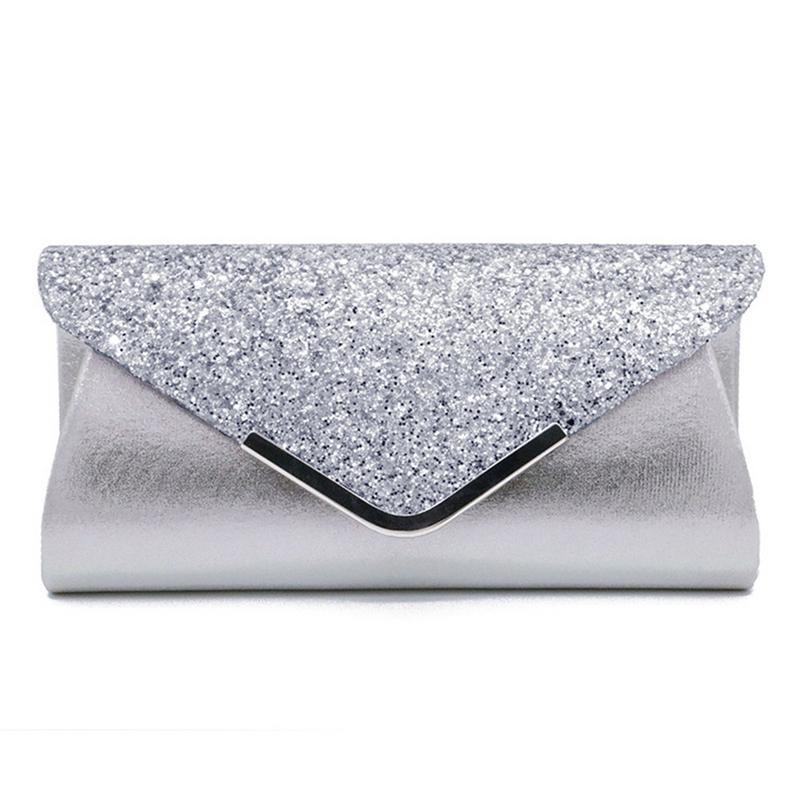 Fashion Dinner Bag Clutches PU Sequins Handbags Clutch Banquet Evening Bags Handbag For Women Female Ladies Elegant Party Bag