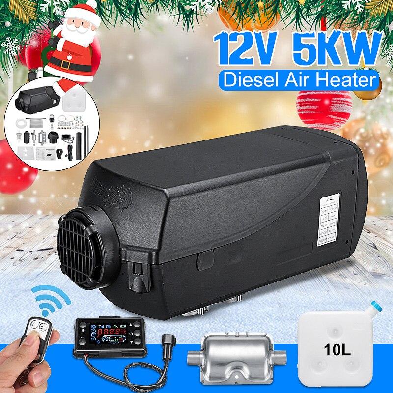 5KW 12 В Air Diesels нагреватель парковка нагреватель с дистанционным Riscaldatore ЖК-монитор глушитель 10L бак для грузовики, лодки автобус автомобильный...