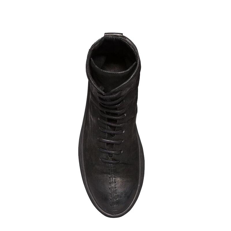 Осенне зимние ботильоны из натуральной кожи; ботинки «Челси»; Мужская обувь; теплая классическая мужская Повседневная зимняя обувь в винта... - 5
