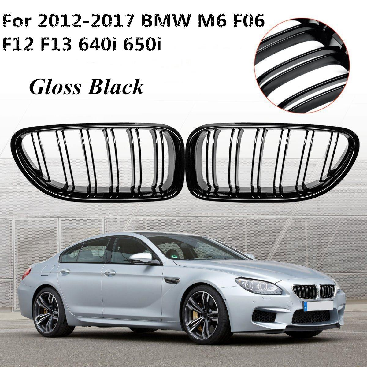 Pair Auto Gloss Black Front Grill Grilles Exterior Replacement For BMW M6 640i 650i F06 F12 F13 2012 2013 2014 2015 2016 2017Pair Auto Gloss Black Front Grill Grilles Exterior Replacement For BMW M6 640i 650i F06 F12 F13 2012 2013 2014 2015 2016 2017