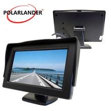 Nuovo 4.3 Pollici A colori TFT Car Monitor 2 Ingresso Video Car Monitor di visualizzazione telecamera posteriore di Backup inversione di priorità