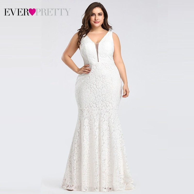 Corset Lace Mermaid Wedding Dresses 2020 Ever-Pretty Design Simple Elegant Wedding Gowns For Bride Dress Boda Robe De Mariee