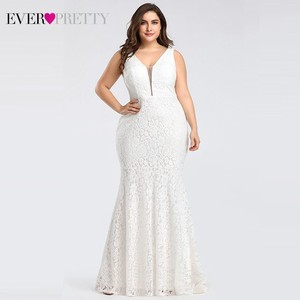 Image 1 - Ever pretty vestidos de casamento, corset de renda sereia design simples elegante para casamento 2020 mariee
