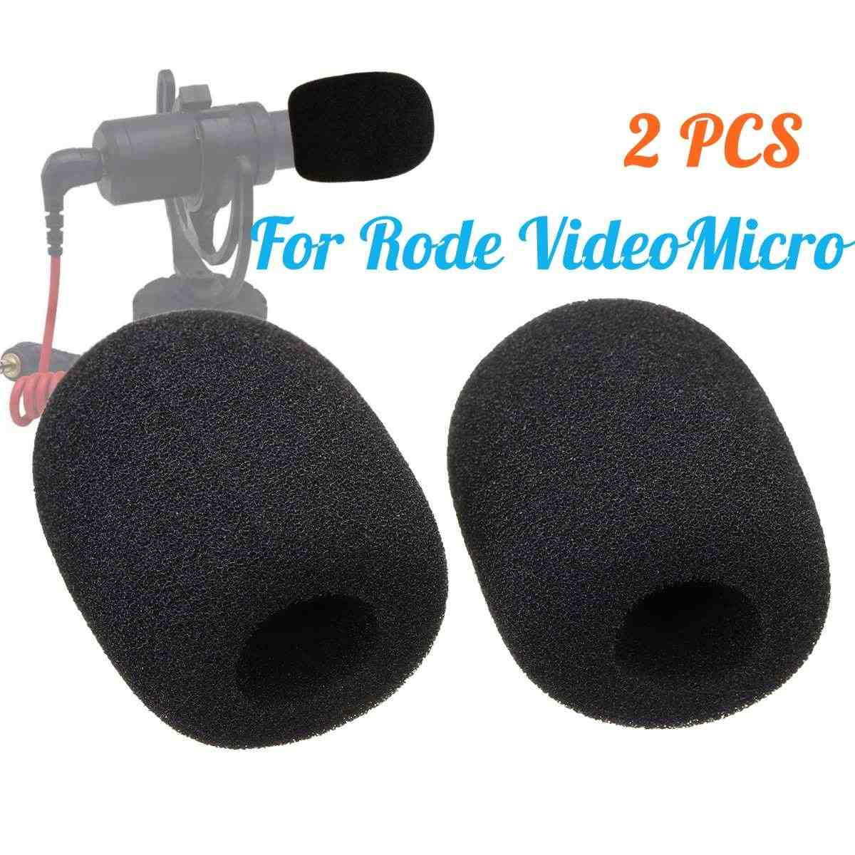 1Pair Microphone Windshield Sponge Foam Cover For Rode VideoMicro Audio