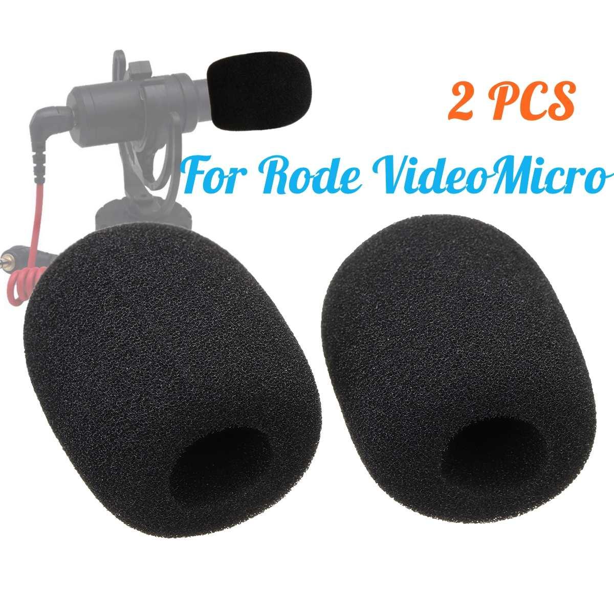 1 Paar Mikrofon Windschutzscheibe Schwamm Schaum Abdeckung Für Ritt Videomicro Audio