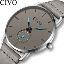 CIVO Mens Watches Top Brand Luxury Sports Watch Slim Mesh Date Waterproof Quartz For Men Blue Clock Relogio Masculino