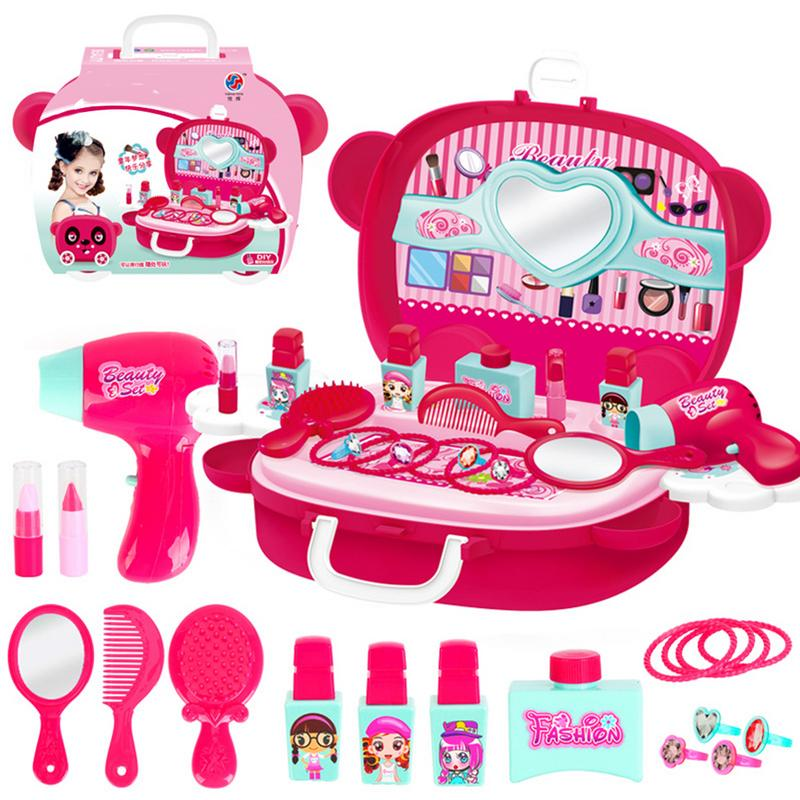 Kids Makeup Toys Girls Games Baby Cosmetics Pretend Play Set Hairdressing Make Up Beauty Toy For Girl Developing Game image